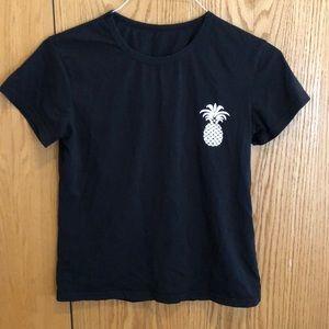 Black Pineapple T- Shirt
